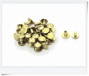 Rivet, brass 5 mm