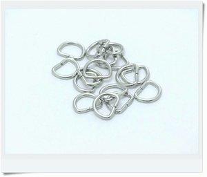 D-ring, nickel, 13mm