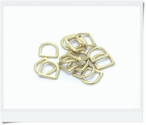 D-ring, molded brass, 13mm