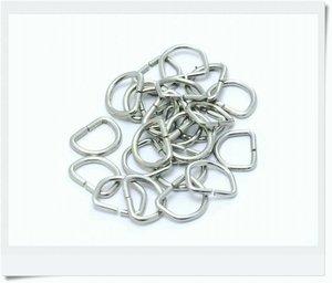 D-ring nickel, 16mm