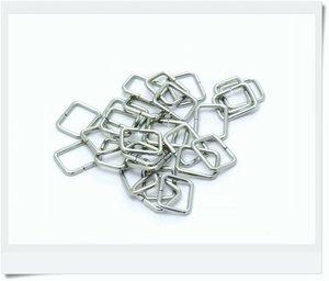 Rectangular nickel ring 15x6mm