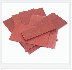 Vulcanized spacer 15 x 5cm, 6 mm, red