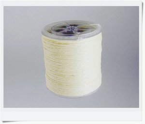 Waxed linen  thread, natural