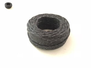 Waxed linen thread, black