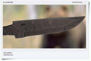 Damascus blade 105x25x4 mm