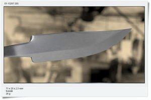 Carbonsteel blade 71x24x2,5mm