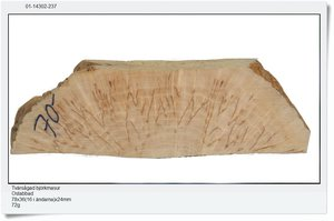 Cross-sawn birch masur, 78x36(16 at the end) 24mm