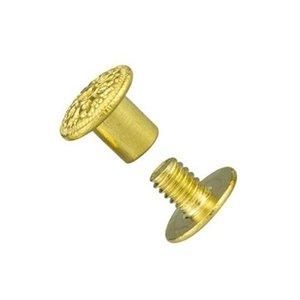 Rivet, celtic, brass 8 mm