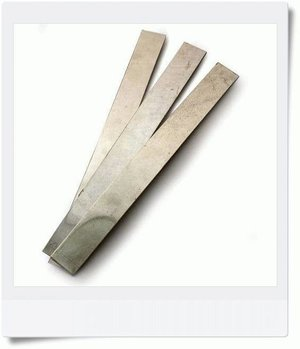 Tin sheet 120x20 mm, 1,6mm